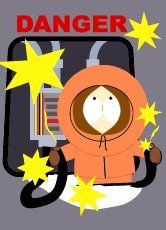 South Park Danger Kenny Magnet SM1088