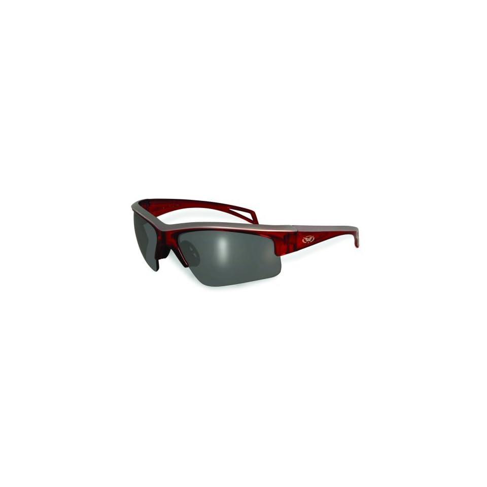 55eb7166de Global Top Gun Safety Glasses Burgundy Red Frame Flash Mirror Lens 2 Tone  Frame