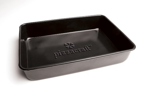Pizzacraft PC0303 13.5-Inch x 9.75-Inch Rectangular Porcelain-Coated Deep Dish Pizza Pan