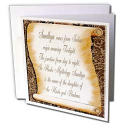 Beverly Turner Name Design Sandhya The Meaning Greeting Cards 6 Greeting Cards with envelopes