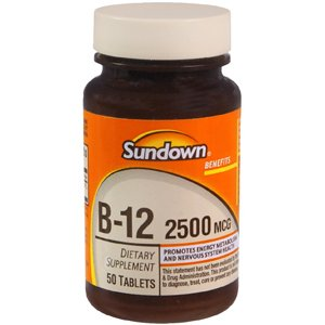 Special Pack Of 5 Sun Down Vitamin-B12 2500Mcg 50 Tablets