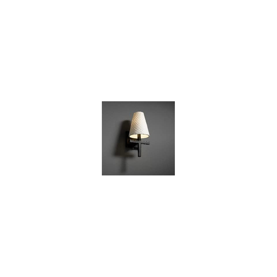 Justice Design Group POR 8951 LEAF Leaves Cone Limoges Traditional / Classic Up Lighting Wall Sconce