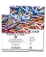 Sennelier Pastel sec Card (fine Papier de verre grain) Pad 24x16cm 12 feuilles of 6 assorted colours 360gs