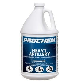 Prochem - Heavy Artillery - High pH Cleaning Power for Heavy Carpet Soils - Commercial Carpet Prespray Solution - Concentrate - 1 Gallon - S738