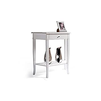 Console Table 1Drawer Lacquered White Table Wood Input Table Veneto–As Photos White and Ivory