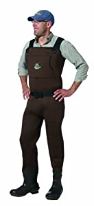 Caddis Brown Neoprene Bootfoot Waders, 12 by Caddis