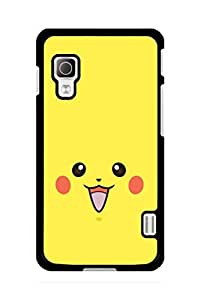 Caseque Pikachu Yellow Back Shell Case Cover for LG L52