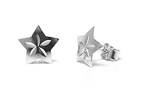 or-blanc-9-carats-diamant-taille-boucles-doreilles-en-forme-detoile