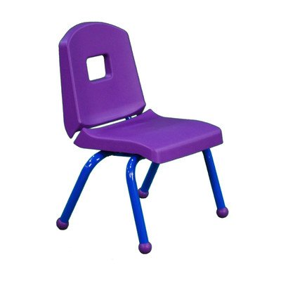 """Creative Colors 10Chrb-Pr-Bl Split-Bucket Chair, Ball Glides, 10"""" Height, Purple Seat And Back, Blue Frame front-992100"""