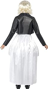 Smiffy's Bride of Chucky Costume with Jacket, Dress and Choker - White, Medium