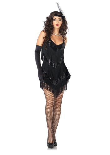 2 PC. Ladies Roaring 20's Honey Fringe Dress