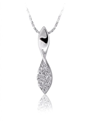 Lifestyle Infinity Lifestyle Clear Cubic Zirconia Twisted Necklace For Women (P204017R) (Transperant)