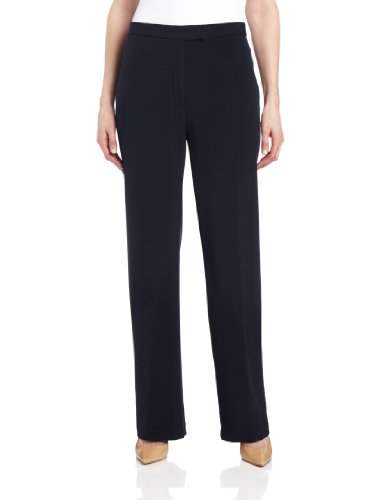 Sag Harbor Women's Slimming Panel Pant, Navy, 10