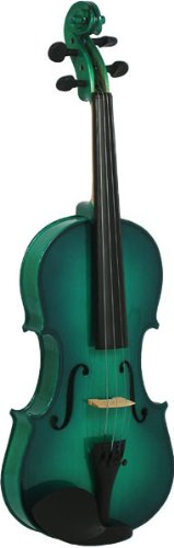 Blue Moon 4/4 Size Violin Outfit - Green