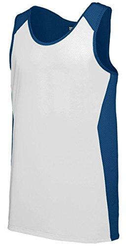 Augusta Sportswera Men'S Sleeveless Pinhole Mesh Jersey, Navy/ White, Large