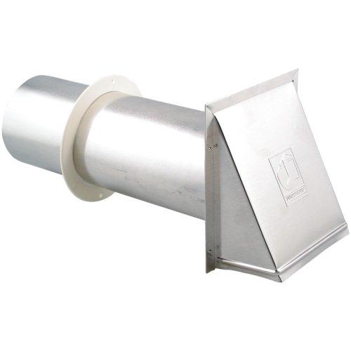 "Lambro 344 Aluminum Dryer Vent, 4"" front-260650"