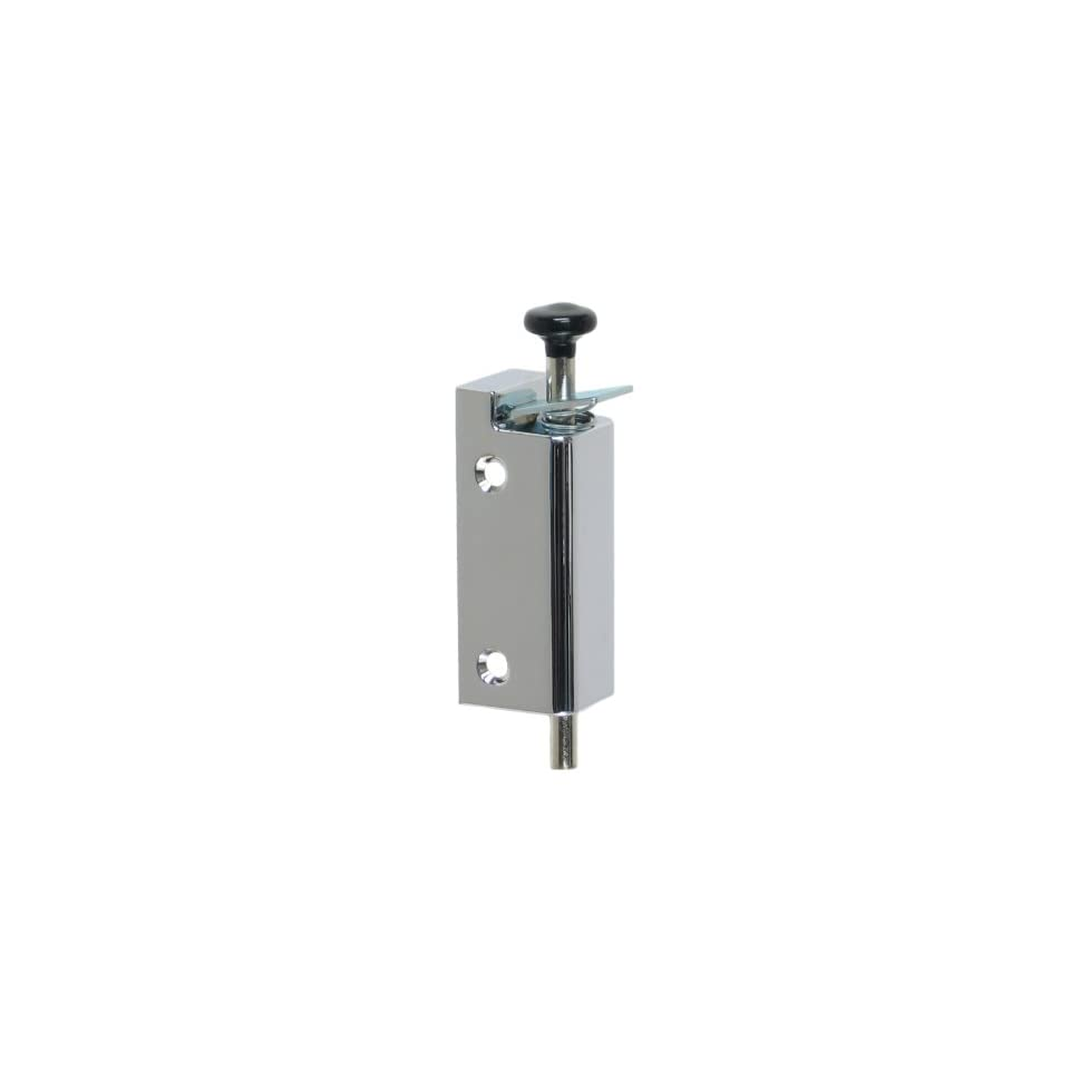 FPL Sliding Door Lock Security Foot Bolt in Polished Chrome   Quickly and Easily Locks and Unlocks with Your Foot
