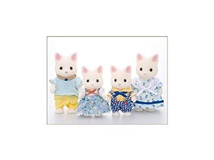 Epoch Japon fs-12famille chat soie 4905040144003Sylvanian Families Figurine Poupée