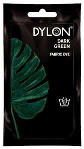 Dylon Fabric Dye for Cotton, Linin, Wool and Silk, Premium Grade, Dark Green Color 50 G