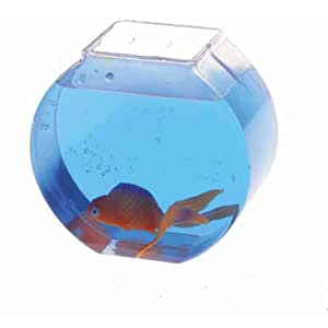 Us toy plastic fish bowl measures 3 3 4 for Small plastic fish