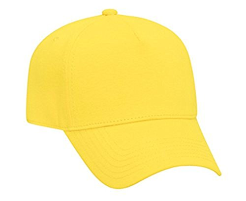 Hats & Caps Shop Jersey Knit Five Panel Pro Style Caps - Maize - By TheTargetBuys (Maize Fedora Hat)