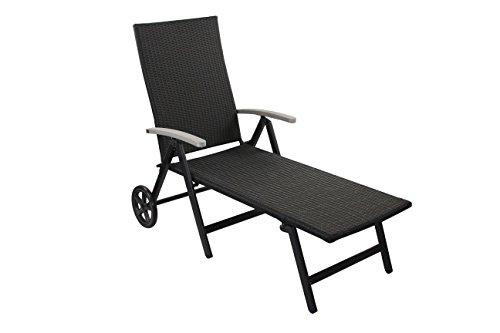 gartenliege alu rollen. Black Bedroom Furniture Sets. Home Design Ideas