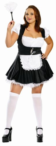 2 Piece Maid in USA Plus Size Costume