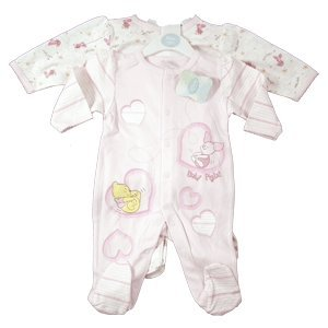 Disney Baby Twin Sleepers 6-9 months Pink 100% Cotton Pooh & Piglet Design.