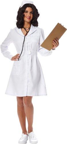 [Vintage Nurse Adult Costume Large] (Fantasy Themed Costume)