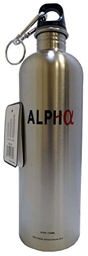 27 Ounce All Stainless Steel Water Bottle With Screw In Cap And Snap Hook front-449082