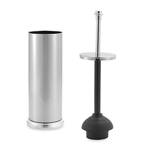 toilet plunger with discreet brushed nickel holder dealtrend. Black Bedroom Furniture Sets. Home Design Ideas