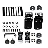 Kentrol Black Stainless Steel Hood Kit 1998-2006 Jeep Wrangler TJ, TJ Unlimited # 50504