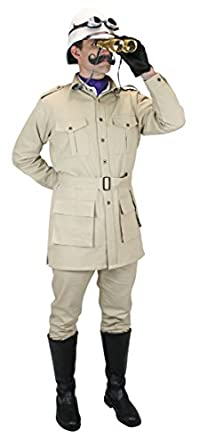 1900s Edwardian Men's Suits and Coats Cotton Canvas Safari Bush Jacket $74.95 AT vintagedancer.com