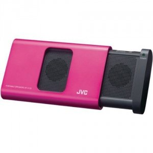 Jvc Spa130Pn Portable Sliding Speaker For Ipod/ Iphone And Laptop - Pink