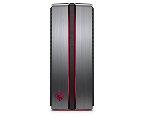 HP OMEN 870-024nl Desktop, Intel Core i7-6700HQ, RAM 16GB, SSD da 256GB + HDD da 1TB, Scheda Video Nvidia GeForce GTX 1070A da 8GB, Argento