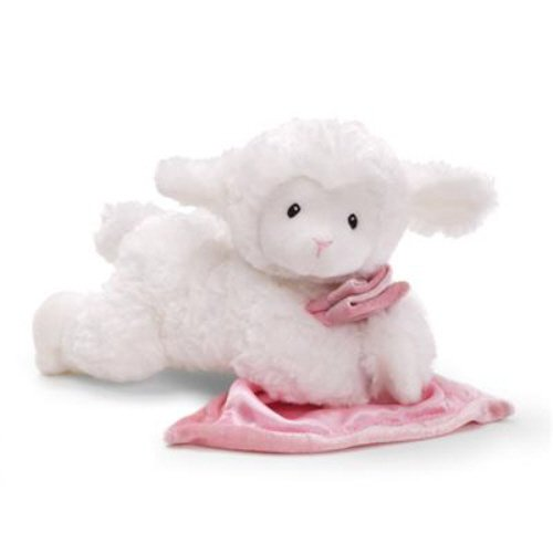 Toy Lena Prayer Lamb W/ Pink Blankie front-794037