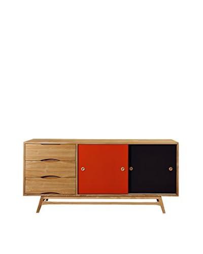 Kardiel Color Pop Mid-Century Modern Sideboard Credenza, Oak