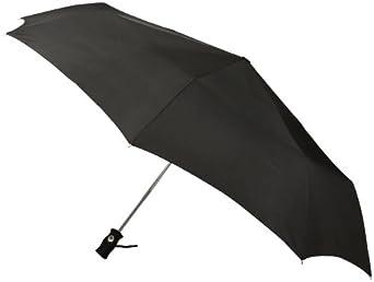 Totes Signature SuperDome Auto Open/Close Umbrella, Black, One Size