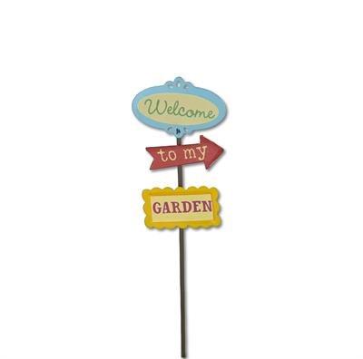 Studio M - Gypsy Fairy Garden - Mini Garden Sign GG218
