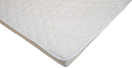 American Baby Company 2762 Waterproof Flat Quilted Crib Mattress Pad Cover (White)