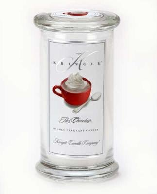 Kringle Candle Company Large Classic Apothecary Jar - Hot Chocolate