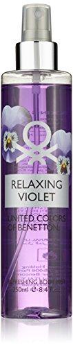 United Colors of Benetton, Relaxing Violet, Spray corpo profumato e rinfrescante da donna, 250 ml