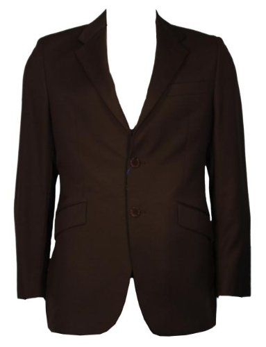 Paul Smith Single Breasted Light Wool Suit Jacket - Brown
