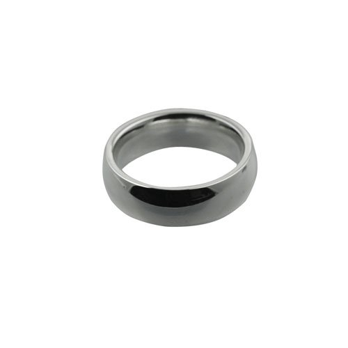 Palladium 6mm plain Court shaped Wedding Ring Sizes I to P