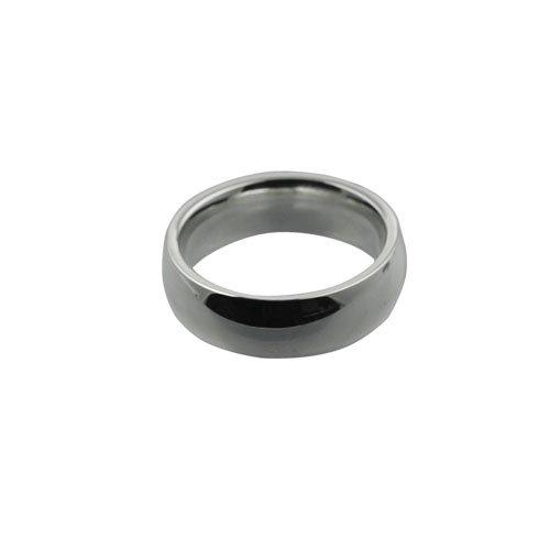 Palladium 6mm plain Court shaped Wedding Ring Sizes I to P
