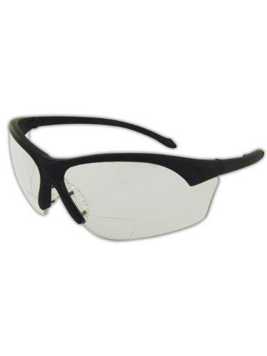 One Pair Magid Y31BKAFC Gemstone Sapphire Protective Eyewears Clear Lens and Black Frame