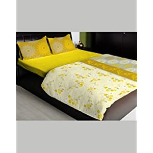 Dreamline Double Bed Sheet, Lemonade