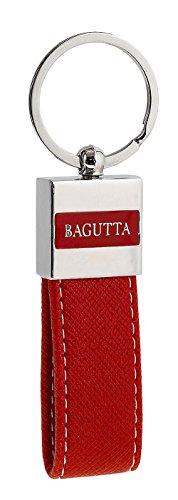 Portachiavi con USB | Pen Drive | 8Gb | Pelle e Acciaio | Bagutta (Rosso)