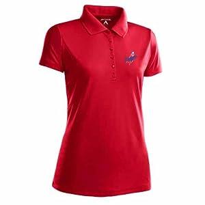 Los Angeles Dodgers Ladies Pique Xtra Lite Polo Shirt (Alternate Color) by Antigua