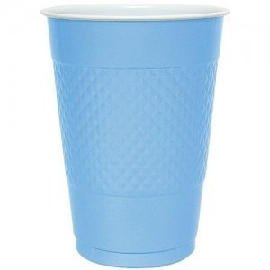 16 Oz Light Blue Plastic Cups - 50 Ct